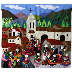 Traditional Wedding Peruvian Wall Hanging