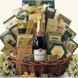 Gourmet Sophisticate Taittinger Brut Champagne Gift Basket