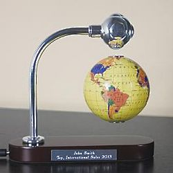 Personalized Levitating Globe Award
