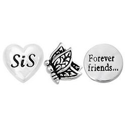 Sisters Forever Friends Charm Set