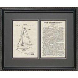 Sailboat Patent Artwork Nautical Art Print