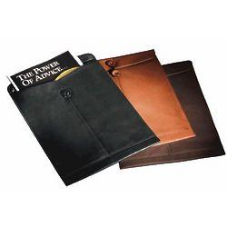 Leather Manila Folder