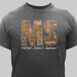 Multiple Sclerosis Word-Art T-Shirt