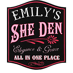 Personalized She Den Sign