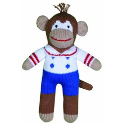 First Mate Borris Monkey Hand-Knit Doll