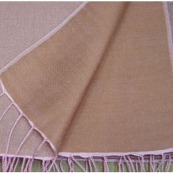 Lavendar/Chocolate Brown Reversible Pashmina Wrap