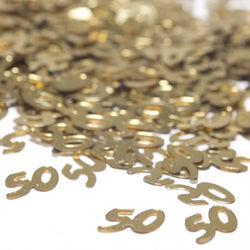 Gold 50 Shaped Confetti