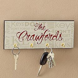 Don't Forget Personalized Key Rack