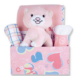 Pink Little Kitty Gift Box Set