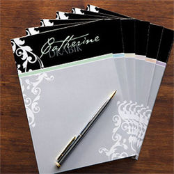 Damask Personalized Notepad for Her