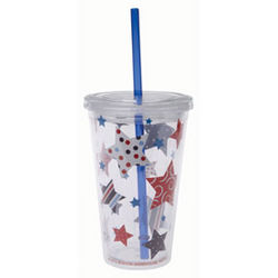 Flying Flags Insulated Tumbler with Straw