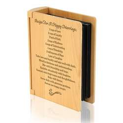 Recipe For a Happy Marriage Wooden Photo Album