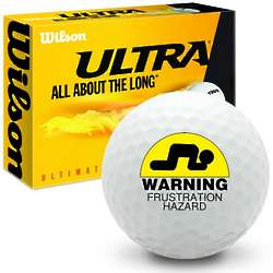 Warning Frustration Hazard Ultra Ultimate Distance Golf Ball
