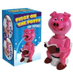Piggy on the Potty Soap Dispenser