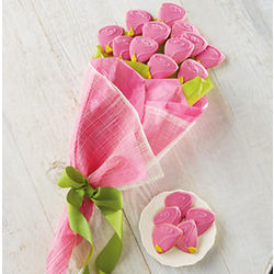 Pink Rose Cookie Bouquet