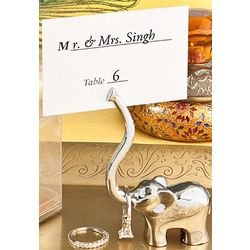 Elephant Place Card Holder Favor
