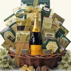 Gourmet Sophisticate Veuve Clicquot Brut Champagne Gift Basket