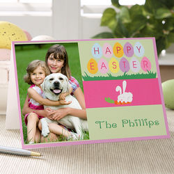 Personalized Easter Greetings 1-Photo Card