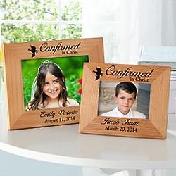 Confirmed in Christ Personalized Confirmation Wood Frame