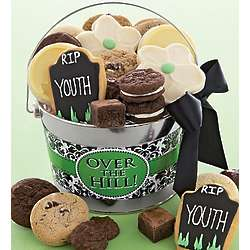 Over the Hill Birthday Cookies Gift Pail