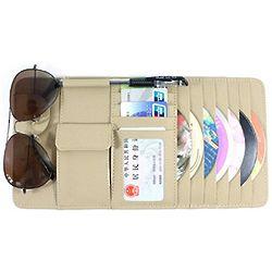 Car Visor CD Holder, Wallet and Organizer