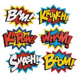 Jumbo Superhero Word Cutout Wall Decorations