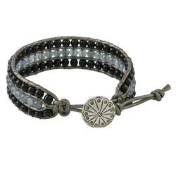 Midnight Clouds Onyx Wristband Bracelet