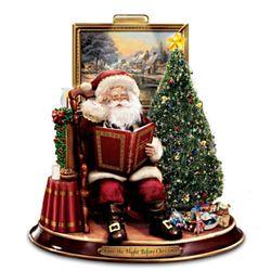 Thomas Kinkade Twas The Night Before Christmas Storytelling Santa