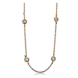 Cubic Zirconia By The Yard Necklace Chain in 14k Gold Vermeil