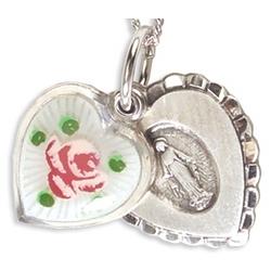 Cloisonne Miraculous Medal Necklace
