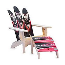 Adirondack Waterski Chair and Ottoman