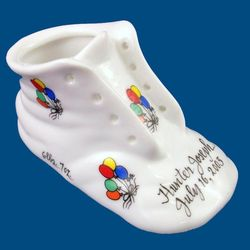 Personalized Hand Painted Porcelain Baby Shoe