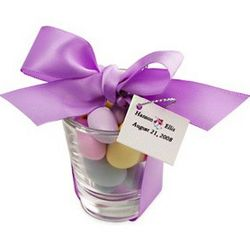 Shot Glass with Candy Wedding Favor