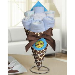 Giraffe Baby Shower Diaper Bouquet for Boy