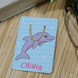 Personalized Dolphin Bookmark