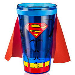 Superman Pint Glass with Cape