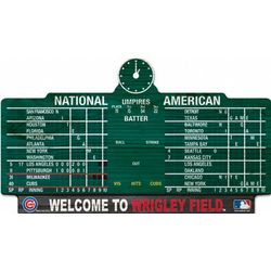 Chicago Cubs Scoreboard 11x17 Wood Sign