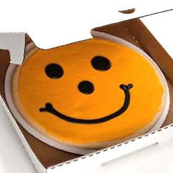 Big Pittsburgh Pirates Black and Gold Smiley Cookie