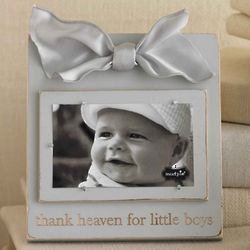 Thank Heaven for Little Boys Picture Frame