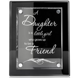 A Daughter and a Friend Piano Finish Plaque