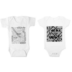 Word Search and Crossword Babysuit