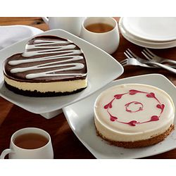 Mother's Day Heart Cheesecakes