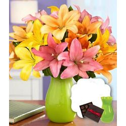 Royal Spring Lilies for Mom with Chocolates