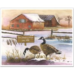 The Smith Ranch Personalized Art Print