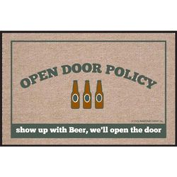 Beer Open Door Policy Doormat