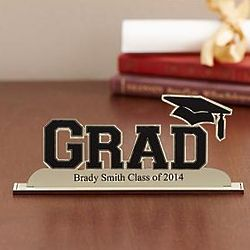 Personalized Grad Silhouette Plaque