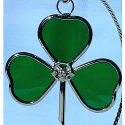 Shamrock Suncatcher with Claddagh
