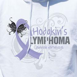 Personalized Hodgkin's Lymphoma Awareness Hooded Sweatshirt