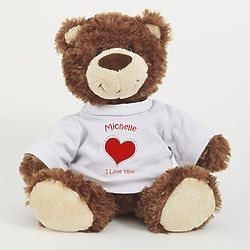 Personalized I Love You Heart Smiles Teddy Bear