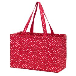 Personalized Scattered Dot Ultimate Tote in Red